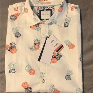 Men's Button Down Pineapple Shirt